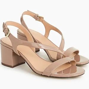 Asymmetrical strappy sandals-patent leather-H7340